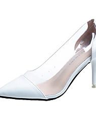 cheap -Women's Heels Stiletto Heel Pointed Toe PU Comfort Walking Shoes Summer Black / White / Red / 3-4