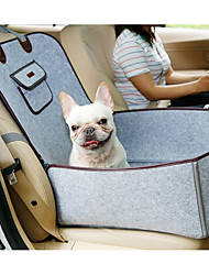 cheap -Cat Dog Car Mattress Pet Booster Seat Portable Foldable Easy to Install Solid Colored Fabric Brown Gray