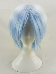 cheap -Synthetic Wig Curly Minaj Curly Layered Haircut Wig Short Light Blue Synthetic Hair Men's Ombre Hair Blue hairjoy