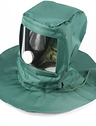 cheap -Hiking Cap Mosquito Head Net Hat Pollution Protection Mask Windproof Rain Waterproof Dust Proof Regional mask Waterproof&Dustproof Canvas Spring, Fall, Winter, Summer for Men's Women's Null Green