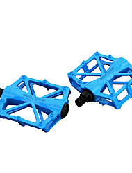 cheap -Bike Pedals Flat & Platform Pedals Cycling Durable Easy to Install Carbon Fiber for Cycling Bicycle Road Bike Mountain Bike MTB BMX Red