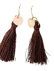 cheap -Women's Drop Earrings Tassel Ladies Bohemian Fashion Boho Earrings Jewelry White / Black / Brown For Daily Evening Party