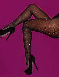 cheap -Women's Thin Sexy Pantyhose - Solid Colored, Sequins Beige Fuchsia Khaki One-Size / Going out / Club