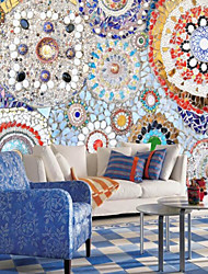 cheap -Print Art Deco 3D Home Decoration Vintage Modern Wall Covering, Canvas Material Adhesive required Mural, Room Wallcovering