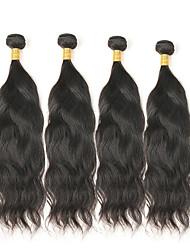 cheap -4 Bundles Mongolian Hair Natural Wave Remy Human Hair Natural Color Hair Weaves / Hair Bulk Human Hair Weaves Human Hair Extensions / 10A