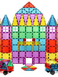 Недорогие -Магнитный конструктор Магнитные плитки Конструкторы 60 pcs Геометрический узор Прозрачный Body Мальчики Девочки Игрушки Подарок