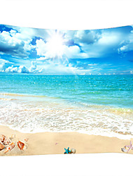 cheap -Wall Tapestry Art Decor Blanket Curtain Picnic Tablecloth Hanging Home Bedroom Living Room Dorm Decoration Landscape Beach Sea Ocean Wave