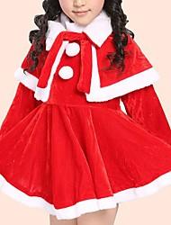 abordables -Bébé Fille Simple Quotidien Couleur Pleine Couleur unie Manches Longues Robe Rouge