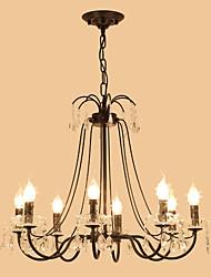 cheap -LightMyself™ 8-Light 68 cm Crystal Chandelier / Pendant Light Metal Painted Finishes Chic & Modern / Traditional / Classic 110-120V / 220-240V