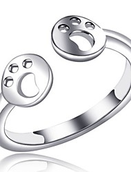 cheap -Women's Open Cuff Ring Knuckle Ring wrap ring Silver Copper Circle Ladies Fashion Daily Office & Career Jewelry Lovely