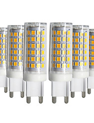 cheap -6pcs G9 9W 76LED 2835SMD Corn Lamp Warm White Cool White Natural White LED Ceramics Lamp AC 220V AC110V