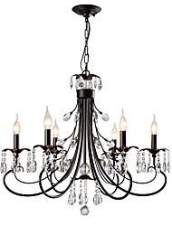 cheap -LightMyself™ 6-Light 75 cm Crystal Chandelier / Pendant Light Metal Painted Finishes Chic & Modern / Modern Contemporary 110-120V / 220-240V
