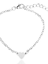 cheap -Women's Chain Bracelet Link Bracelet Heart Fashion Classic Alloy Bracelet Jewelry Silver / Gold For Daily Going out