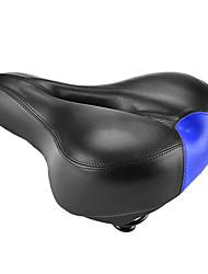 cheap -Bike Saddle / Bike Seat Thick PU Leather Silica Gel Cycling Road Bike Mountain Bike MTB Black Red Blue