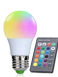 Недорогие -1шт 3 W Умная LED лампа 250 lm E26 / E27 10 Светодиодные бусины SMD 5050 Инфракрасный датчик Диммируемая На пульте управления RGBW 85-265 V / RoHs / FCC