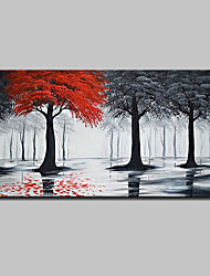 cheap -Mintura® Hand Painted Landscape Oil Painting On Canvas Modern Abstract Tree Wall Art Pictures For Home Decoration Ready To Hang