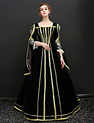 cheap -Princess Queen Victoria Renaissance Dress Outfits Party Costume Masquerade Women's Costume Black Vintage Cosplay 3/4 Length Sleeve Floor Length Ball Gown Plus Size Customized