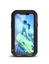 cheap -Case For Apple iPhone XS / iPhone XR / iPhone XS Max Water / Dirt / Shock Proof Full Body Cases Solid Colored Hard Metal