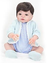cheap -NPKCOLLECTION NPK DOLL Reborn Doll Baby Girl 22 inch Full Body Silicone Silicone Vinyl - Newborn lifelike Cute Hand Made Child Safe New Design Kid's Unisex Toy Gift / Natural Skin Tone / Floppy Head