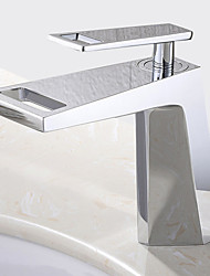 cheap -Bathroom Sink Faucet - Widespread Chrome Centerset Single Handle One Hole