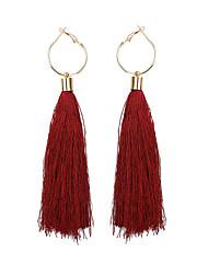 cheap -Women's Drop Earrings Tassel Ladies Tassel Ethnic Earrings Jewelry Light Pink / Dark Green / Dark Navy For Prom Going out