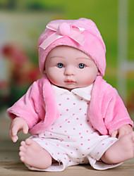 cheap -NPKCOLLECTION NPK DOLL Reborn Doll Girl Doll Baby Girl 10 inch Full Body Silicone Silicone Vinyl - Newborn lifelike Cute Hand Made Child Safe New Design Kid's Unisex / Girls' Toy Gift / Floppy Head