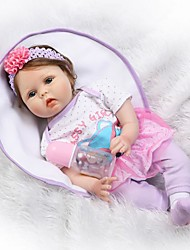 cheap -NPKCOLLECTION 22 inch NPK DOLL Reborn Doll Baby Reborn Baby Doll Newborn lifelike Cute Child Safe Non Toxic with Clothes and Accessories for Girls' Birthday and Festival Gifts / Kid's