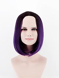 Недорогие -Парики из искусственных волос Прямой Прямой силуэт Парик Короткие Фиолетовый Искусственные волосы Жен. Природные волосы Фиолетовый