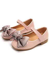 cheap -Girls' Comfort / Flower Girl Shoes Leatherette Flats Little Kids(4-7ys) Bowknot / Magic Tape Black / Pink / Gray Spring / TPU (Thermoplastic Polyurethane)