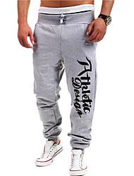 cheap -Men's Active / Basic Sports Straight / Active / Sweatpants Pants - Letter Blue Light Blue Light gray L XL XXL