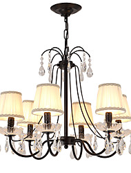 cheap -LightMyself™ 6-Light Chandelier / Pendant Light Ambient Light Painted Finishes Metal Crystal 110-120V / 220-240V Bulb Not Included / E12 / E14