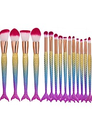cheap -Professional Makeup Brushes Makeup Brush Set 16pcs Eco-friendly Professional Synthetic Hair / Artificial Fibre Brush Plastic Makeup Brushes for