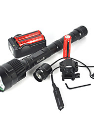 cheap -LED Flashlights / Torch Diving Flashlights / Torch 6000 lm LED Emitters 3 Mode with Batteries with Remote Controller Camping / Hiking / Caving Everyday Use Diving / Boating Black
