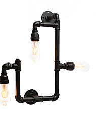 cheap -Vintage Industrial Pipe Wall Lights Black Creative Lights Restaurant Cafe Bar Wall Sconces 3-Light Painted Finish