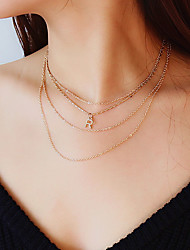 cheap -Women's Choker Necklace Monograms Music Notes Ladies Fashion Colorful Alloy Gold Silver Necklace Jewelry For Gift Daily Prom Street Club