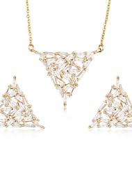 cheap -Women's Cubic Zirconia Stud Earrings Drop Earrings Pendant Necklace Ladies Sweet Elegant Zircon Earrings Jewelry Gold / Silver For Wedding Party