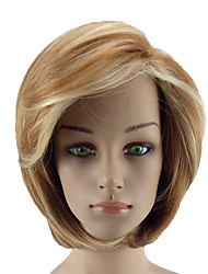 cheap -Synthetic Wig Straight Straight With Bangs Wig Blonde Short Light golden Synthetic Hair Women's Color Gradient Blonde hairjoy
