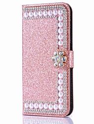 cheap -Phone Case For Apple Full Body Case iPhone 11 iPhone XR iPhone 11 Pro iPhone 11 Pro Max iPhone XS iPhone XS Max iPhone X iPhone 8 Plus iPhone 8 iPhone 7 Plus Wallet Card Holder Rhinestone Solid