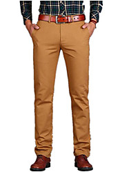 cheap -Men's Basic Daily Chinos Pants - Solid Colored Rivet Spring Black Blue Army Green 29 / 30 / 31