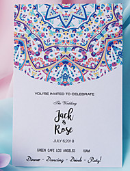 cheap -Flat Card Wedding Invitations 50-Pack / 20-Pack - Invitations Sets Artistic Style Pearl Paper