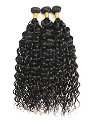 cheap -3 Bundles Hair Weaves Brazilian Hair Curly Human Hair Extensions Remy Human Hair Natural Color Hair Weaves / Hair Bulk / 10A