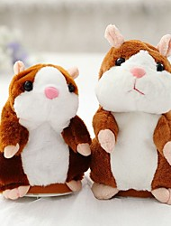 cheap -1 pcs Stuffed Animal Plush Toy Mouse Hamster Cute Walking Talking Electric Repeats What You Say Vibrate Nods Imaginative Play, Stocking, Great Birthday Gifts Party Favor Supplies Kid's