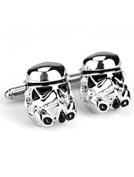 cheap -Non-personalized Chrome Cufflinks Groom / Groomsman Wear to work / Daily Wear -