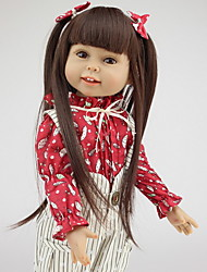 cheap -NPKCOLLECTION NPK DOLL Reborn Doll Baby 18 inch Full Body Silicone Silicone - Newborn lifelike Cute Child Safe Non Toxic Hand Applied Eyelashes Kid's Unisex / Girls' Toy Gift