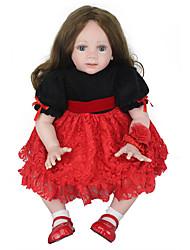cheap -NPK DOLL Reborn Doll Baby Girl 24 inch Silicone Vinyl - Newborn lifelike Cute Hand Made New Design Hand Applied Eyelashes Kid's Unisex Toy Gift / Natural Skin Tone / Floppy Head