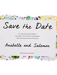 Недорогие -Плоские Свадебные приглашения 50 в комплекте / 20 в комплекте - Наборы приглашений Художественный Розовая бумага