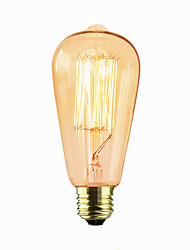 cheap -1pc 60 W E26 / E27 ST64 2300 k Incandescent Vintage Edison Light Bulb 110-220 V / 220 V / 220-240 V