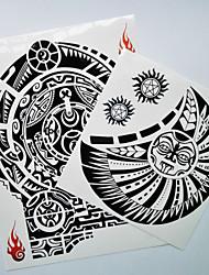 cheap -2 pcs Tattoo Stickers Temporary Tattoos Totem Series Body Arts Shoulder