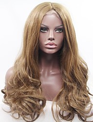 cheap -Synthetic Lace Front Wig Natural Wave Synthetic Hair African American Wig Brown Wig Women's Long Full Lace / Lace Front