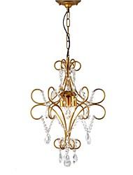 Недорогие -LightMyself™ 3-Light 42 cm Люстры и лампы Металл Окрашенные отделки Художественный / Природа 110-120Вольт / 220-240Вольт